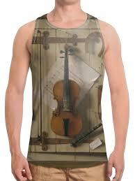 <b>Борцовка с полной</b> запечаткой Натюрморт со скрипкой (Уильям ...