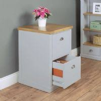 baumhaus chadwick two drawer filing cabinet grey painted with oak top chadwick satin lacquered oak hidden