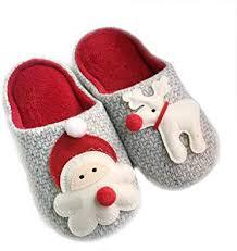 ZRH Winter Christmas Slippers Cotton <b>Cartoon Santa Elk</b> Christmas ...