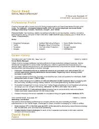 social media specialist resume resume cover letter template social media specialist resume