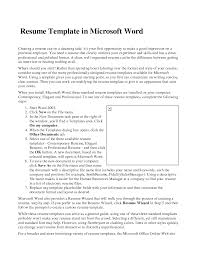 resume templates microsoft word resume badak sample resume templates microsoft word