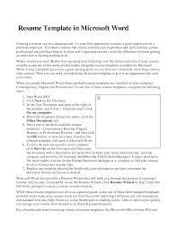 resume templates microsoft word resume badak sample resume templates microsoft word