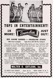 duke ellington on the national film registry jam session  soundies trade advertisement