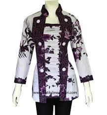 Contoh Model Baju Batik Lengan Panjang Modern Terbaru