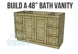 making bathroom cabinets:  vanity copy