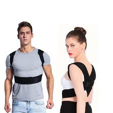WALFRONT <b>Upper Back Shoulder</b> Spine Support Belt Posture ...