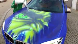 watch a bmw turn into the hulk when splashed with hot water bmw office paintersjpg