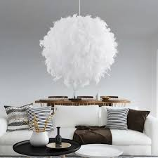E27 Modern Pendant Light Ball Romantic Dreamlike Feather ...