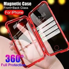 <b>360</b> Full Protection Double Sided Tempered Glass <b>Metal Magnetic</b> ...