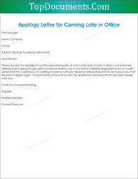 apology letter for being late apology letter  the