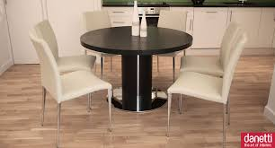 cream compact extending dining table:  wonderful extendable dining table for dining room decoration cool black and white dining room design