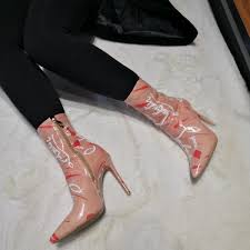 <b>Yifsion New</b> Women Winter Ankle Boots Sexy Thin High Heels Boots ...