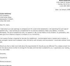 Resume Cover Letter Receptionist Examples   Free Resume Samples