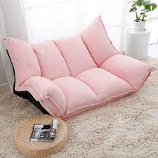 <b>Adjustable Fabric Folding Chaise</b> Lounge Sofa Chair Floor Couch ...