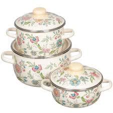 Набор эмалированной посуды СтальЭмаль Луговые цветы ...