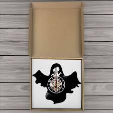 Wqixu <b>Cartoon</b> Bat Shape Wall Art Wall Clock <b>Halloween</b> Dark ...