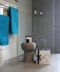 bathroom box  bathroom box with teal towels designer in a box