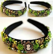 Manual bezel of beads/Ручной ободок из бисера: лучшие ...