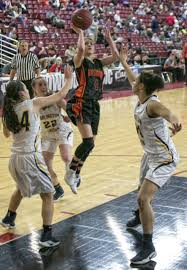 young panthers gain valuable experience in the sun dome camas washougal guard mason oberg 4 floats a two point score over burlington edison s jazzlyn woods 34 right during the second round of the wiaa 2a girls
