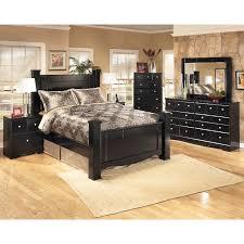oak pc queen high poster bedroom