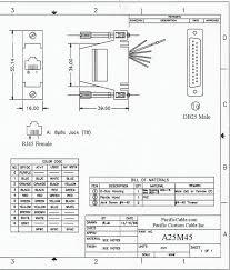 am d male to rj wire a25m45 drawing d25 male to rj45 8 wire