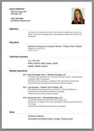 First Time Job Resume Template  resume templates for teenagers