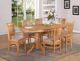 oval dining table art deco:  solid oak dining room table to accompany your family dinner great oak dining room table