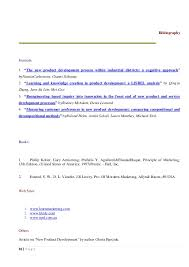 new product development assignment  a g e     bibliographyjournals the new product development