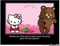 Hello Kitty Pedobear (Not Own Work) by hancok54 - Meme Center via Relatably.com