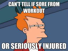 Image result for athlete sore body gif