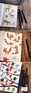 Elise Gravel illustration • sketchbook • doodles • sketch • <b>fox</b> ...