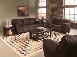 charming dark cream walls combined brick living room furniture
