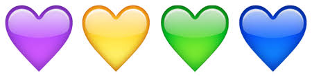 Image result for colored hearts