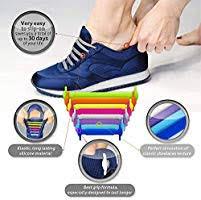 (Black) - <b>No Tie Shoelaces</b> for Adults. Best <b>Elastic</b> Silicone <b>Shoe</b> ...