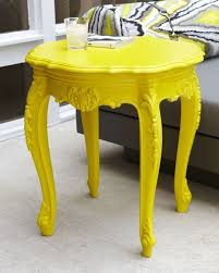 taking one piece of furniture and painting it all one bright color as a statement bright painted furniture