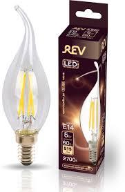 <b>Лампочка REV Deco Premium</b> Filament FC37, Теплый свет, E14, 5 ...