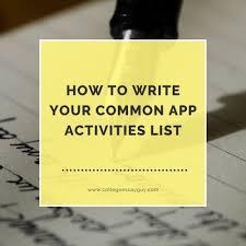 common app activities essay  common app activities essay
