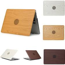 <b>Wood Grain Shell</b> Protective Hard Case Cover Sleeve Bag for Apple ...