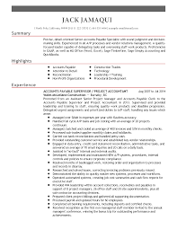 professional accounts payable supervisor templates to showcase resume templates accounts payable supervisor