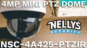 4MP <b>PTZ Camera</b> w/ Auto Tracking & 160' Night Vision, Hidden IR ...