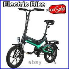 <b>16Inch</b> Folding <b>Electric</b> Bike Bicycle E-Bike 250W 36V 7.5Ah ...