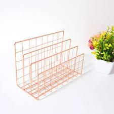 <b>Three grid iron</b> book shelf, <b>metal</b> book stand, desktop decoration file ...
