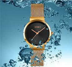 <b>Skmei Fashion Simple Women's</b> Watch Steel strap waterproof watch ...
