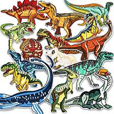 Iron On Patches, Muscccm 15 Pcs <b>Embroidered Dinosaur</b> Patches ...