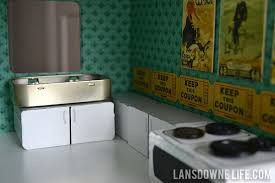 diy dollhouse kitchen with handmade sink cabinets appliances building doll furniture