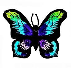 Butterflies - Blue Morpho-like <b>Iron On Butterfly</b> Patch Applique | want ...