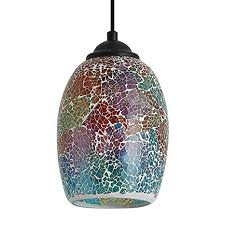 <b>Contemporary Mini</b> Pendant Light with <b>Hand</b> Crafted Mosaic Color ...