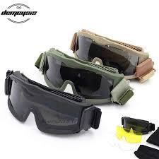 Black tan green <b>Military Tactical Goggles</b> Oculos Airsoft <b>Glasses</b> ...