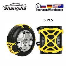 <b>6pcs Car</b> Tire Snow Chains <b>Universal</b> Thickening Adjustable Anti ...