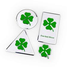 <b>Four Leaf Clover Lucky</b> Grass Symbol Thin Aluminium Triangle ...